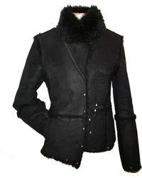 Balmain Blouson, veste en fourrure polyester noir