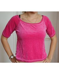 Sonia Rykiel Top, tee-shirt velours rose