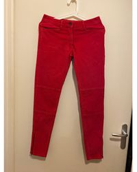 Sandro - Pantalon slim, cigarette coton rose - Lyst