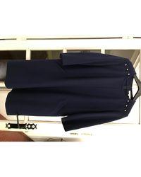 Gerard Darel Robe courte polyester bleu