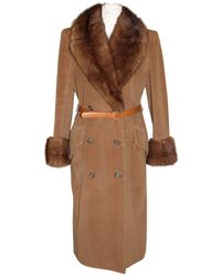 Valentino - Manteau laine beige - Lyst