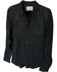 Sandro Chemise coton noir