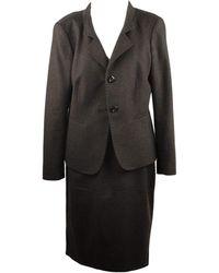 Max Mara Tailleur robe laine autre - Noir