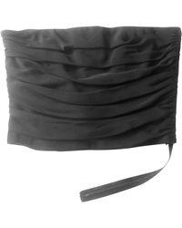 Lanvin Bustier soie noir