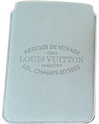 Louis Vuitton Etui iPod cuir bleu