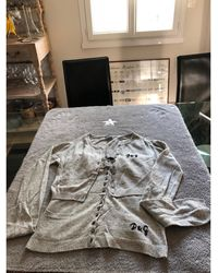 Dolce & Gabbana - Twin set laine gris - Lyst