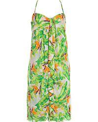Diane von Furstenberg - Robe mi-longue soie multicolore - Lyst
