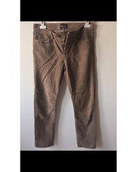 The Kooples Pantalon slim velours côtelé beige - Neutre