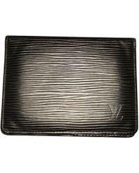 Louis Vuitton Porte-cartes cuir noir