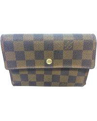 Louis Vuitton Portefeuille cuir marron