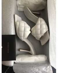 Bottega Veneta Mules cuir blanc