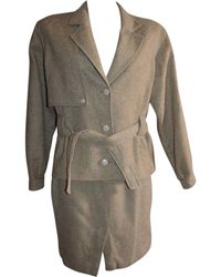 Burberry Tailleur jupe laine mélangée beige - Neutre
