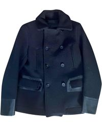 Sandro - Caban laine noir - Lyst