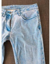 Sandro Pantalon slim, cigarette coton bleu