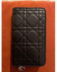 Dior Porte-monnaie cuir noir