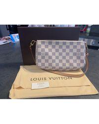 Louis Vuitton Sac pochette en cuir cuir blanc
