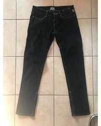 Jean Paul Gaultier - Jeans droit coton noir - Lyst