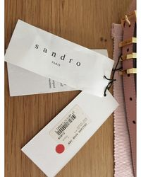 Sandro Ceinture fine cuir rose