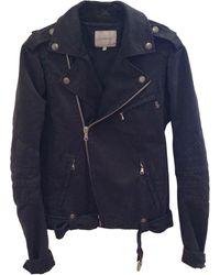 Balmain Blouson coton noir