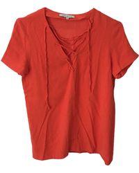 Sandro Top, tee-shirt viscose orange
