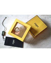 Fendi Pendentif, collier pendentif plaqué or doré - Métallisé