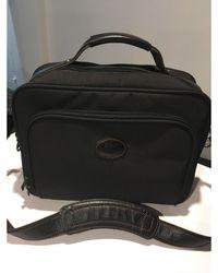 Longchamp Porte documents, serviette toile noir