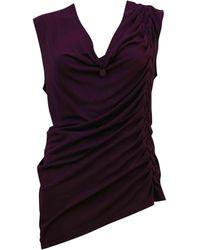 Jean Paul Gaultier - Top, tee-shirt viscose violet - Lyst