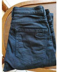 Sandro Pantalon slim, cigarette coton noir