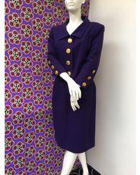 Christian Lacroix Tailleur jupe laine violet