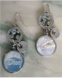 Dior Boucles d'oreille métal argent - Métallisé