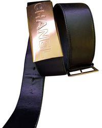 Chanel Ceinture large cuir noir