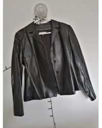 Gerard Darel Veste en cuir simili cuir noir