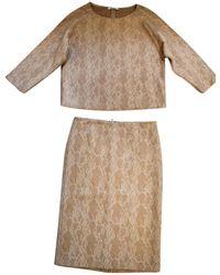 Max Mara Robe mi-longue laine blanc