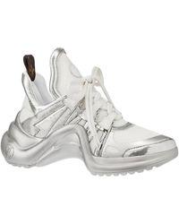 Louis Vuitton Baskets tessuto + pelle blanc