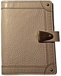Louis Vuitton Portefeuille cuir beige - Neutre