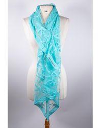 Versace Foulard soie bleu