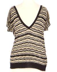 Maje Top, tee-shirt acrylique multicolore