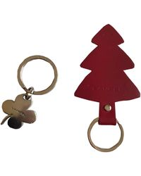 Lancel Porte-clés cuir rouge