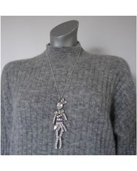 Sonia Rykiel Pendentif, collier pendentif laiton argent - Métallisé