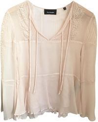 The Kooples Blouse soie rose