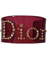 Dior Bracelet plastique rouge