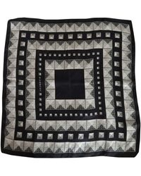 Givenchy - Foulard soie gris - Lyst