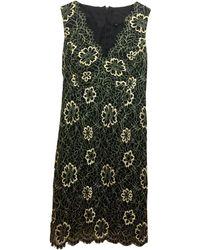 Anna Sui Robe mi-longue dentelle noir