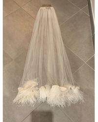 Lanvin Accessoire de mariage plume blanc Taille unique