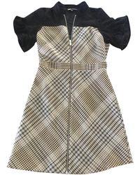 Maje - Robe courte polyester beige - Lyst