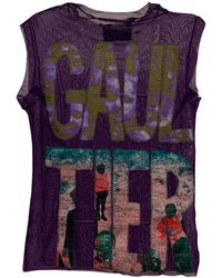 Jean Paul Gaultier - Top, tee-shirt synthétique violet - Lyst