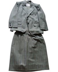 Burberry Tailleur jupe laine multicolore