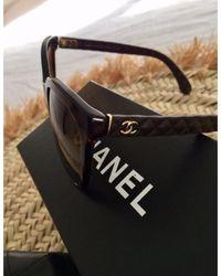 Chanel Lunettes de soleil marron