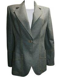 Christian Lacroix - Blazer, veste tailleur laine mélangée gris - Lyst