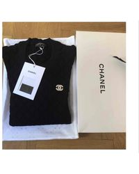 Chanel Pull coton bleu